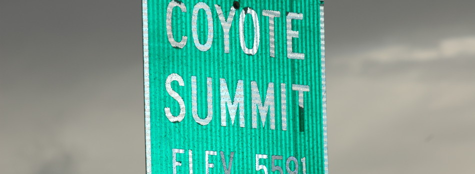 coyote summit sign
