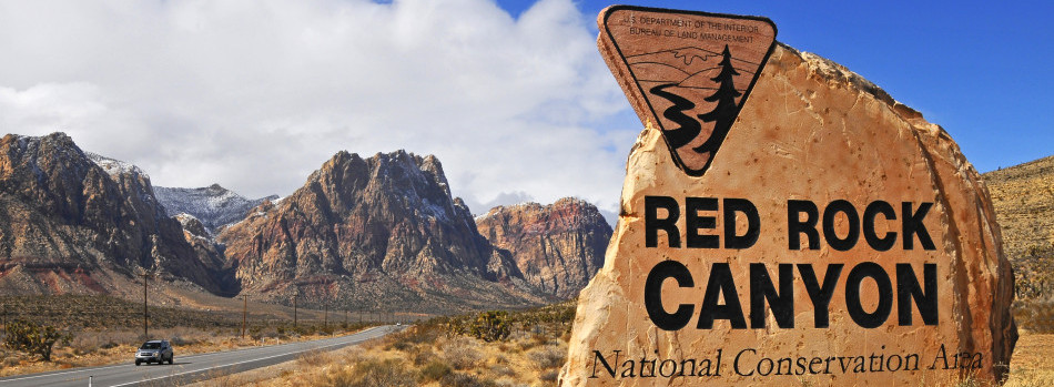 red rock sign