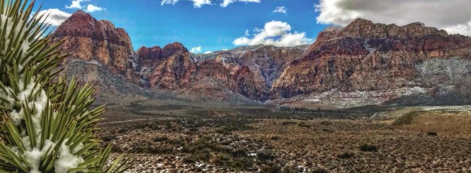 Red Rock with snow Patrick Sylvester pic